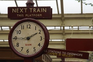 British railway clock