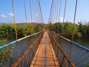 Hanging Bridge on the Gangavali River, India Public Domain Image via Pixabay