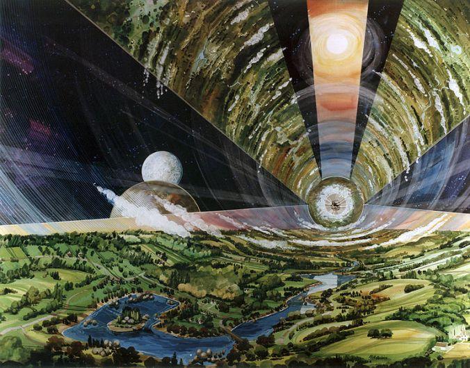 O'Neill cylinder (public domain: NASA)