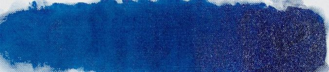Prussian blue thinned with turpentine