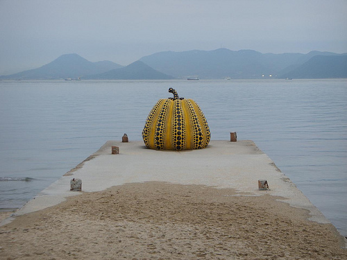 Pumpkin, Seto Inland Sea, 1994 image © Wendy Tanner with CCLicense
