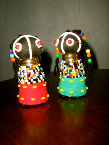 Rasta or Sangoma dolls from the Ndebele people