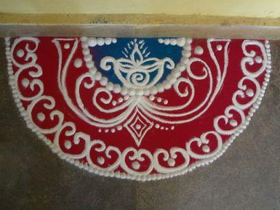 Traditional Rangoli from Goa, India  © Darshan Kandolkar with CCLicense