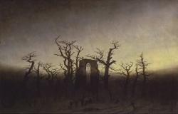 The Abbey in the Oakwood, Caspar David Friedrich, 1808-1810