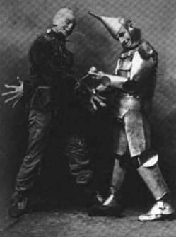 Fred Stone and David Montgomery as Scarecrow and Tin Woodsman, 1902 Public Domain Image