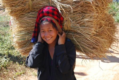Girl working in Myanmar Public Domain Image via Pixabay
