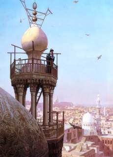 A Muezzin Calling from the Top of a Minaret the Faithful to Prayer, Jean-Léon Gérôme, 1879