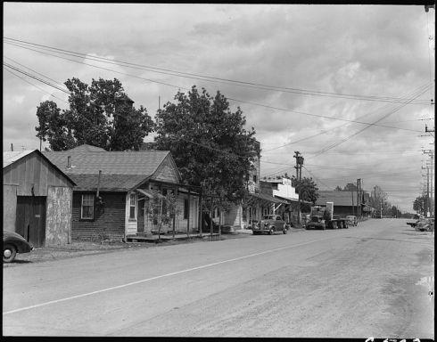 Main Street, Florin, CA, 1942 Dorothea Lange