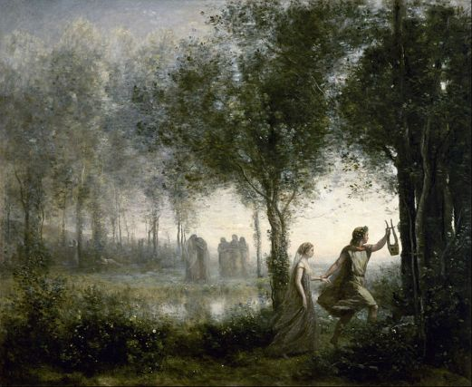 Orpheus Leading Eurydice from the Underworld, Jean-Baptiste-Camille Corot, 1861