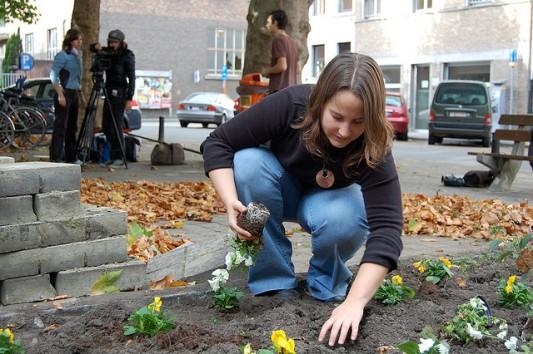 Guerilla Gardening in Ghent, Belgium © Mathias Baert with CCLicense