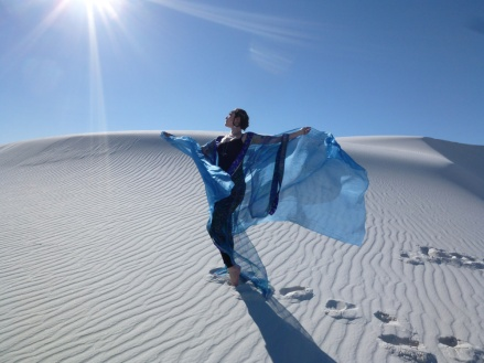 Irina Akulenko at White Sands, New Mexico, USA © Irina Akulenko from her website