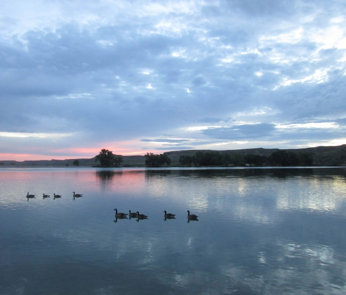 Cloudy Dawn over Lake Scott, #1