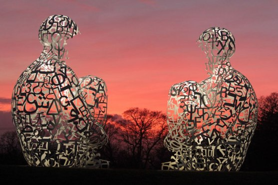 Spiegel by Jaume Plensa taken at The Yorkshire Sculpture Park © Martin Lee with CCLicense