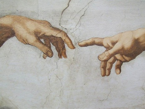 Detail from The Creation by Michelangelo © gnuckx with CCLicense
