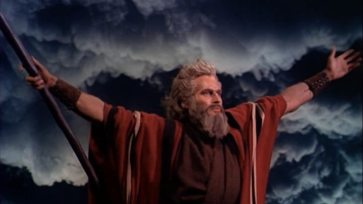 Charlton Heston in The Ten Coomandments