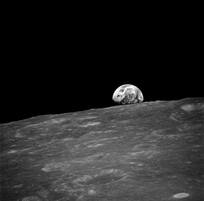 Earthrise on the Moon via Pixabay