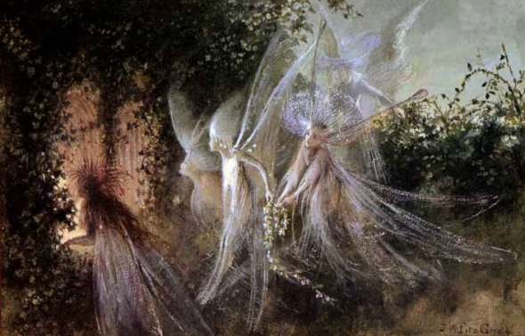 Fairies Looking Through a Gothic Arch John Anster Fitzgerald, 1864