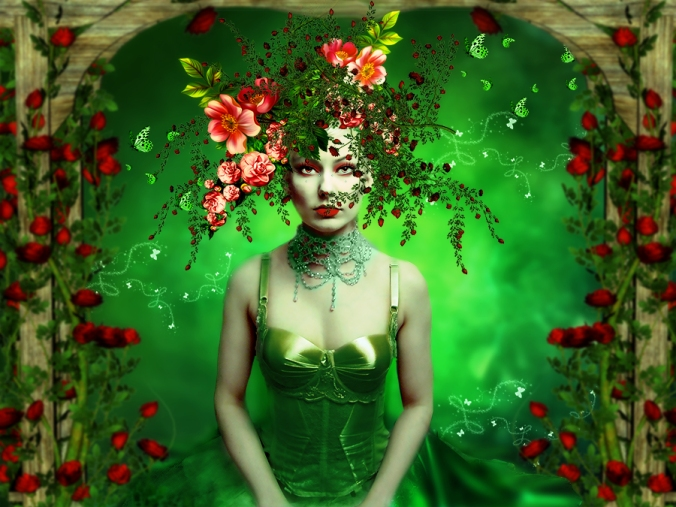 The Flower Woman © annemaria48 with CCLicense