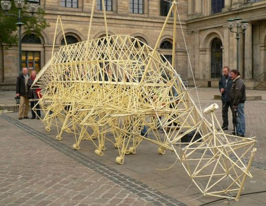 Strandbeest by Theo Jansen Public Domain Image by Axel Hindemith