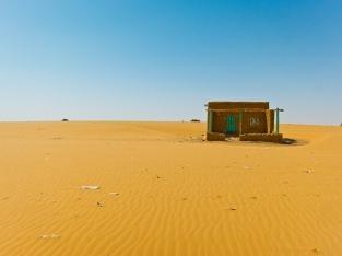 Building near rest stop between Khartoum and Karima, Sudan