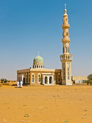 Mosque near a rest stop between Khartoum and Karima, Sudan