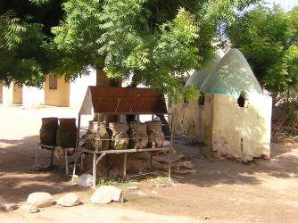 Earthen water vases in Toteil near Kassala, Sudan