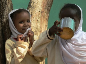 Sudanese children visiting the National History Museum, Khartoum