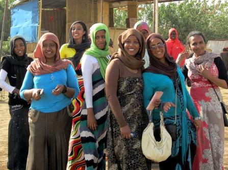 Sudanese women visiting Tuti Island where the Blue Nile and White Nile converge