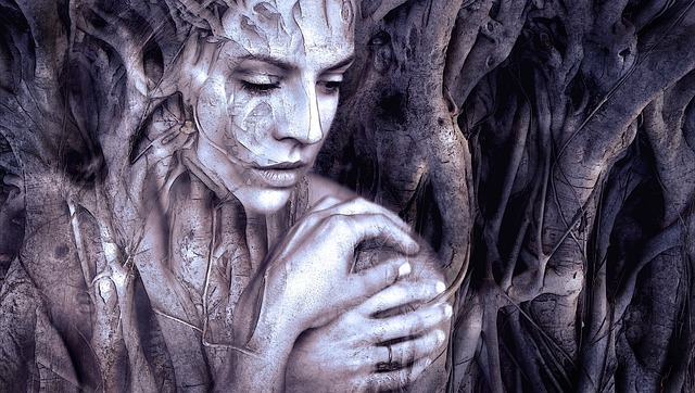 Mystical Face Beauty Woman Root Composing Fantasy