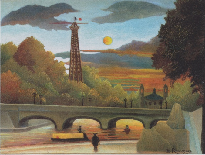 Rousseau, Seine and Eiffel Tower in the Evening Sun, 1910